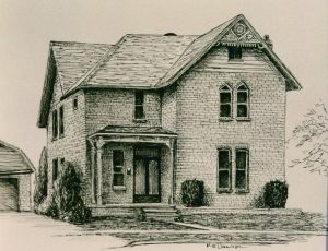 Century Home sold permanent ink drawing