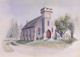 St John's Church, Simcoe watercolor sold limited edition prints available