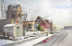 Main Street Port Stanley - for sale 15 x 20 watercolor