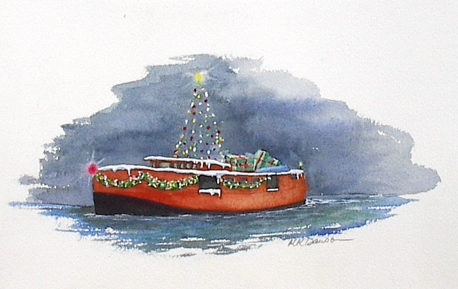 Christmas Card paintings | Margaret Dawson
